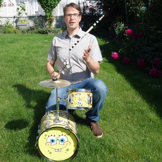 Sponge Bob im Garten