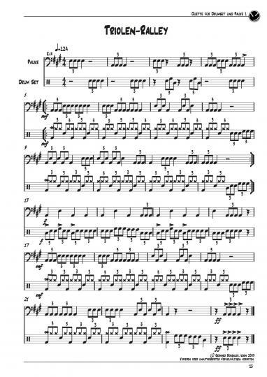 Duette für Drumset und Pauke Teil1